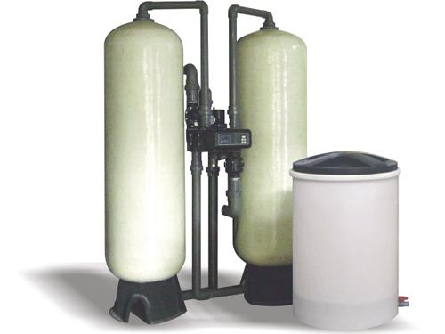 20吨H双罐浮床软化水设备